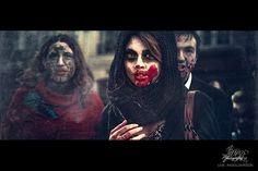 Paris Zombie Walk   Cuded #blood #paris #girl #horde #mob #beautiful #zombie #walk