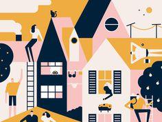 Happy Neighbours by MUTI