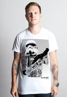 trooper.jpg (JPEG Image, 437 × 633 pixels) #white #t shirt #tattoo #star wars #black #clothing #dark side #culture