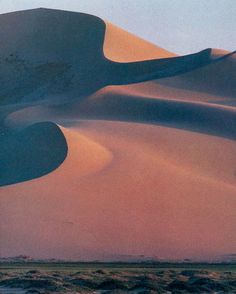 Razor sharp crests carved by the wind in the Hongorin Els dunes in the Gobi desert National Geographic | February 1985 #dune #geographic #dunes #sand #gobi #national #desert