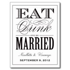 Be Married | Save the Date announcement Post Card #post #cards