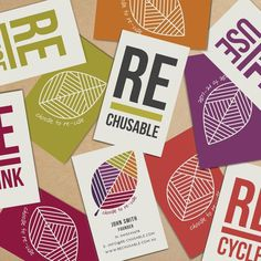 Branding for Rechusable by www.vanessavanselow.com #sustainable #branding #infographic #design #type #environment #identity #eco #logo #colour