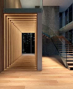 Floor Communicates with Walls at Cora Parquet New Collection - stairs, staircase, architecture, interior design