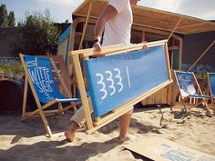 Witte Sieb // Urban Beach Identity on Behance #design #graphic #identity
