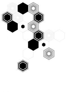 tumblr_lrs4frvSWX1qziq9oo1_500.jpg 500×683 pixels #hexagons #white #hellopanos #black #minimalism