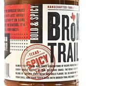 FFFFOUND! | Broken Trail : Lovely Package . Curating the very best packaging design. #bbq #texas #broken trail