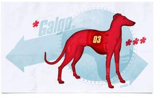 GALGO > Bang! #red #design #graphic #retro #comic #illustration #poster #racing #dog