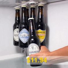 YY #- #310 #Refrigerator #Magnet #Beverage #Storage #Hanger #Suction #Beer #Bottle #Holder #2pcs #- #WHITE