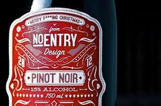 wine gifts, handmade, No Entry Design #packaging #type #pattern