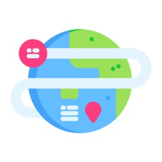 See more icon inspiration related to global, tour, travel, globe, world, space, earth, maps and location, Maps and Flags, world map, planet earth, geography, astronomy, worldwide and planet on Flaticon.