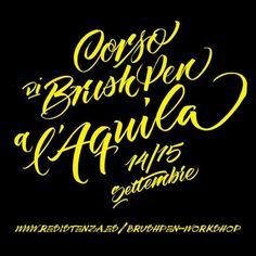 brush-pen-aquila-calligrafia #calligraphy #type #brush