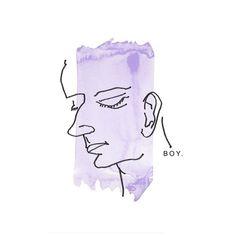 boy illustration water color sketch
