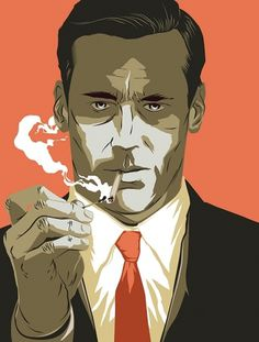 the double d #illustration #mad men