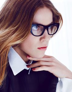 Masha Novoselova by Takay for Flair Germany #glasses #model #girl #photography #portrait #fashion