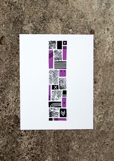 The Letter I #print #screenprint #screen #eye #alphabet #letter #purple #type #typography