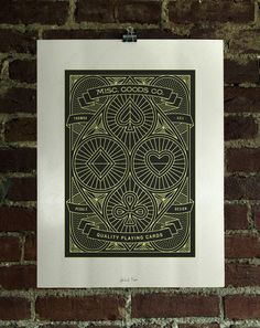 2 Color Screen Printed Poster. #card #playing
