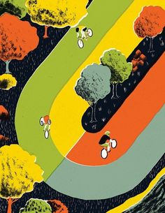 Bicycle Race - Sam Brewster #illustration #sam #brewster