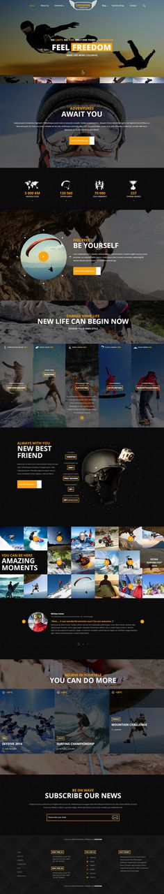 website, dark, concept, yellow, sport, layout