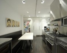 Kitchen interior design with art decor