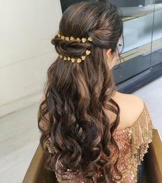 Criss Cross Engagement Hairstyle