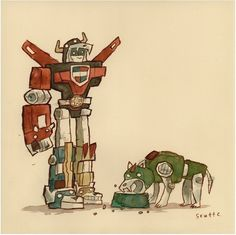 Super Hungry print by Scott C - Scott C - Gallery #voltron #water #c #color #handmade #scott