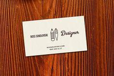 rossnewcard.jpg 700×467 pixels #type #business card #retro #illustrations #designer #ink pen