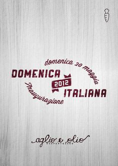 """Domenica Italiana 2012"" on the Behance Network #logo #poster #typography"