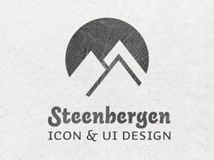 Dribbble - Steenbergen by Max Steenbergen #logo #mountains #texture #grey