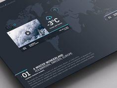 Weather Dashboard // Global Outlook UI/UX on Behance #flat #weather #ux #icon #interface #ui #iphone #dashboard #app #colors #photoshop #iso