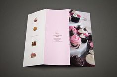 Corporate Identity #branding #cupcakes #treats #menu #sweet