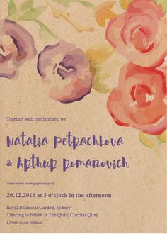 Rustic Botannica - Engagement Invitations #paperlust #engagement #engagementinvitation #invitation #engagementcards #engagementinspiration
