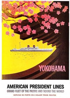 yokohama.jpg (image) #illustration #yellow #travel #vintage