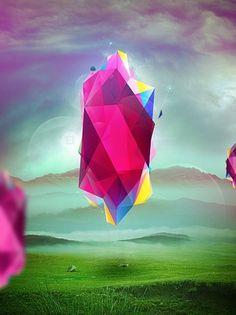 Lucid Dreams. by Jeroenvaneerden | Shadowness #vector #geometry #polygon #design #landscape #colors #poster