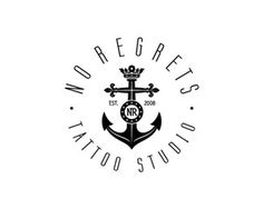 NO REGRETS - final version by Type and Signs #logo #anchor