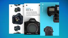 UX UI Camera shooping