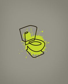 personal, logo, toilet, sick, splatter, line, simple