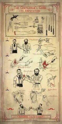 The Gentleman's Guide to Amputation | iainclaridge.net #random #illustration #humor