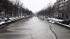 Amsterdam Canal #frozen #winter #snow #photography #amsterdam #canal #beauty