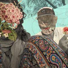 Trip to Mozambique #collage #art #digital #nature #botanical #wood #design #vintage #flowers