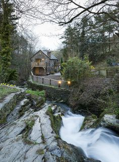 Enchanting Water Mill in Corwen, North Wales Adorned With Rustic Elements #idylic #rustic #architecture #home
