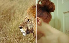 •Courage is what it takes to stand up and speak; courage is also what it takes to sit down and listen. - Winston Churchill | Flickr - Phot #courage #red #girl #lion #hair #photography