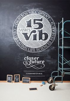 15 years VIB: Event and 9 Books on the Behance Network #design #chalk #typography