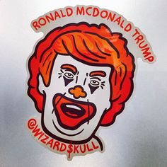 Ronal McDonald Trump #Sticker