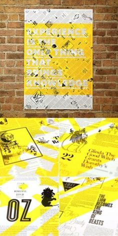 Design Work Life » Brandt Brinkerhoff & Katherine Walker: Storybook Posters #typography #poster #screen print #etching #transparency