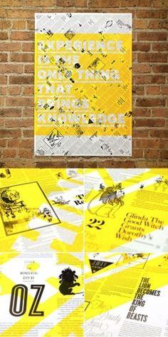 Design Work Life  Brandt Brinkerhoff & Katherine Walker: Storybook Posters #typography #poster #screen print #etching #transparency