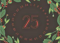 West end girl #days #wreath #calendar #christmas #poster #25