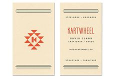 Kartwheel #lettering #business #branding #card #structure #logo #typography