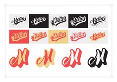 Personal branding: Adria Molins #calligraphy #vector #lettering #red #branding #script #varisty #yellow #retro #color #black #pantone #brush #baseball #logo #swoosh #chart #test #grey