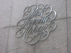Typeverything.com Park Avenue Atrium. (Via Mr. Schwartz) #signage #script