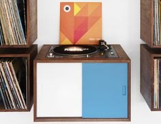 "CJWHO ™ (turn table and vinyl record storage ""LP storage""...) #storage #design #interiors #record #furniture #photography #vinyl #turn #table"